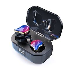 Wireless Bluetooth Earphones TWS Binaural Stereo Earbuds Mini In-ear Headset Bluetooth Wireless Earphones, Wireless Headphones, Sports Headphones, Headset, Bass, Kit Main Libre, Waterproof Headphones, Headphones For Sale, Carte Sd