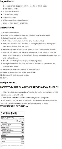 Cooked to a delicious and tender perfection, these Honey Garlic Butter Roasted Carrots make an excellent side dish and take only 10 minutes to prep! The oven-roasting brings out the natural sweetne… Roasted Glazed Carrots, Baked Carrots, Carrot Dishes, Carrot Recipes, Garlic Cloves Minced, Cheese Pies, Quick Weeknight Meals, Sesame Chicken, Veggie Side Dishes