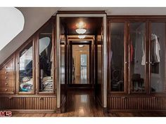 Oh My Stars! I don't think I've fallen in love with a closet before now  Early Movie Star's Paul Williams House in Brentwood Comes With Secret Library Stairway - New to Market - Curbed LA