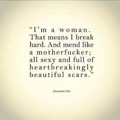heartbreakingly beautiful scars