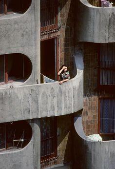 "Polish Manhattan(""Sedesowce""), Housing complex, Wrocław, Poland. built between 1967-70, architect: Jadwiga Grabowska-Hawrylak"