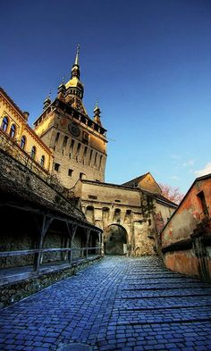 Sighișoara Transylvania, Romania by Places To Travel, Places To See, Wonderful Places, Beautiful Places, Transylvania Romania, Visit Romania, Little Paris, Bucharest Romania, Medieval Town