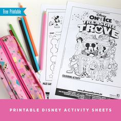 Free printable activity sheets for Disney on Ice presents Treasure Trove