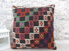 16 x 16 tribal pillow handmade pillow turkey pillow bohemian pillow sofa pillow decorative pillow natural pillow morocco pillow