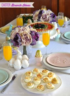 Easter Brunch Ideas and Key Lime Fresh Fruit Tart Recipe Easter Dinner, Easter Brunch, Tart Recipes, Dessert Recipes, Baked Fish, Baked Ham, Oven Baked, Bagel Bar, Fresh Fruit Tart