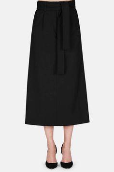 Protagonist — Skirt 24 Convertible Tailored Skirt    Jet Black — THE LINE