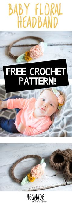 Crochet your own flower headband for a little one in your life - crochet for babies - baby headband - free crochet pattern