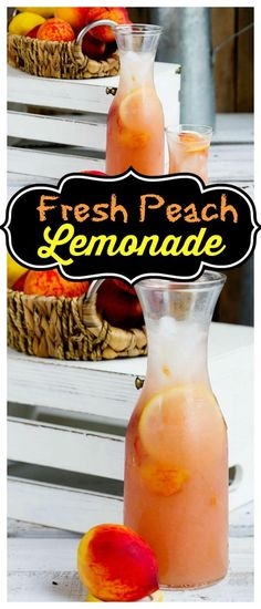 Fresh Peach Lemonade Refreshing summer favorite, made simple with fresh juicy peaches and lemons for a delicious thirst quencher. Summer and spring drinks Refreshing Drinks, Fun Drinks, Yummy Drinks, Healthy Drinks, Yummy Food, Healthy Lemonade, Healthy Recipes, Cold Drinks, Summer Beverages