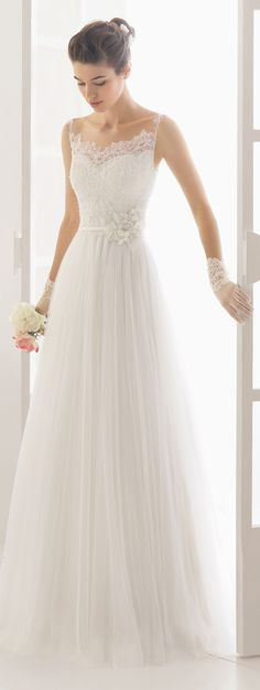 Aire Barcelona charm lace wedding dresses 2016 with thin straps