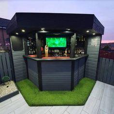 Outdoor Garden Bar, Garden Bar Shed, Diy Outdoor Bar, Backyard Bar, Backyard Patio Designs, Outdoor Kitchen Design, Outdoor Kitchens, Diy Home Bar, Bars For Home
