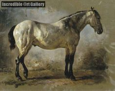 Yanko in the stable a white horse by Wouterus Verschuur