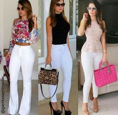 All white ladies Basic Outfits, Mom Outfits, Summer Outfits Women, Classy Outfits, Stylish Outfits, Spring Outfits, Casual Work Outfit Summer, Relaxed Outfit, White Pants Outfit