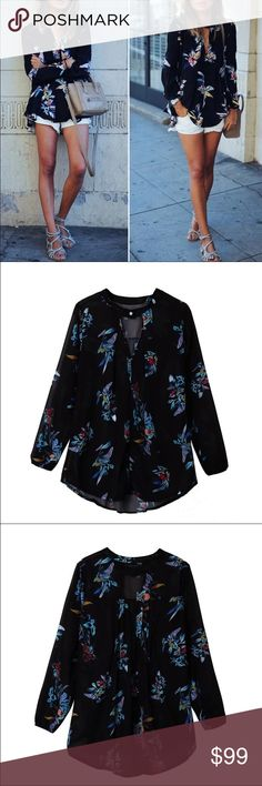 Coming soon floral blouse Coming soon, price will change when item is available for purchase. boutique Tops Blouses