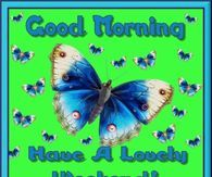 Good Morning, Have A Lovely Weekend