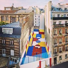 New Colorful Basketball Court in #Paris #pigalleillstudio #arteurbano #streetart #urbanart #graffiti #mural #spray #arte #art #artecontemporáneo #contemporaryart #exposcion #exhibition #museo #museum #galeriadearte #artgallery #artista #artist #diseño #design #Francia #France by plataforma_pac