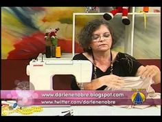 Com Darlene Nobre. Vestido Renda. 2a. parte. Como colocar elastico. 22/11/2010 - Vestido - Parte 2