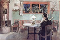 When The Children Have Gone to Bed by Carl Larsson