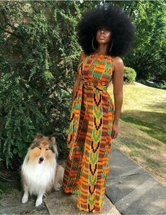 Kente jumpsuit African print wrap Ankara infinity Abena   Etsy