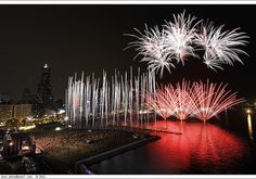 fireworks in Kaohsiung 2011高雄燈會閉幕水幕煙火  http://wefirstmet.com