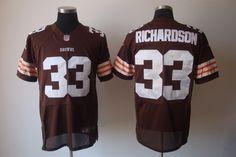 $25.00    Nike NFL Jerseys Cleveland Browns Trent Richardson #33 Brown