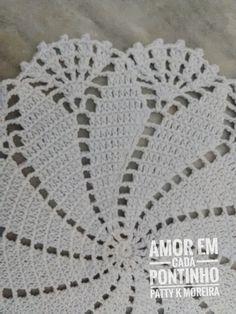 Crochê, ideias, artesanato... Free Crochet Doily Patterns, Crochet Coaster Pattern, Crochet Lace Edging, Crochet Circles, Crochet Squares, Easy Crochet Patterns, Crochet Designs, Crochet Carpet, Crochet Home