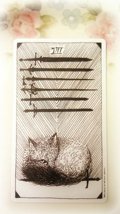 The Wild Unknown Tarot - 7 of Swords