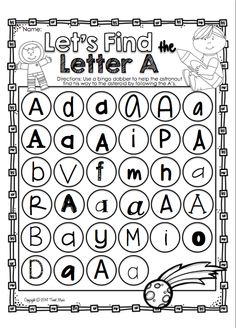 Let's Learn About The Letter A FREEBIE