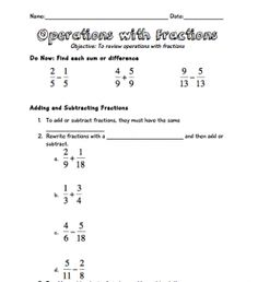 math worksheet : converting fractions to decimals worksheet a free converting  : Basic Operations With Fractions Worksheet