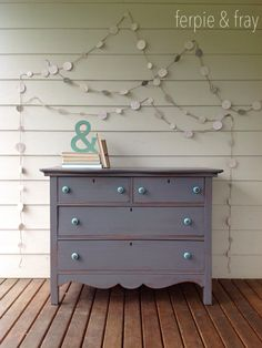 """Dresser painted by Ferpie and Fray in General Finishes Milk Paint """"Driftwood"""""""