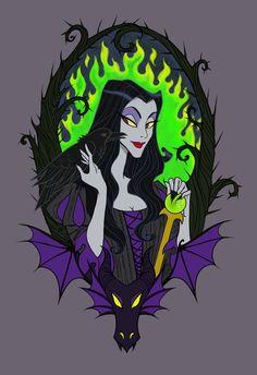 Maleficent by Noxfae on DeviantArt Evil Disney, Dark Disney, Cute Disney, Disney Magic, Tinkerbell Disney, Disney Jasmine, Disney Disney, Maleficent Art, Sleeping Beauty Maleficent