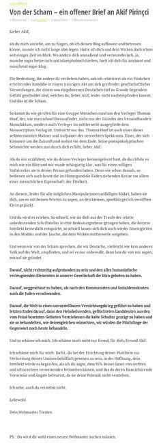 """Alexander Elvers on Twitter: """"Die Kündigung des Webmasters von Akif #Pirinçci im Bild. (Quelle: Website) https://t.co/CB7cu67R9f"""""""