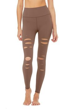 The High-Waist Ripped Warrior Legging features flatlocked seaming and a sleek high waist. These high waisted ripped leggings are perfect for working out and wearing out. What Is Cellulite, Causes Of Cellulite, Cellulite Exercises, Cellulite Cream, Reduce Cellulite, Anti Cellulite, Cellulite Remedies, Thigh Cellulite, Cellulite Workout