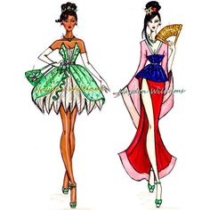 Ilustrações de moda da Disney ❤ liked on Polyvore featuring disney, characters, fillers, princess and random