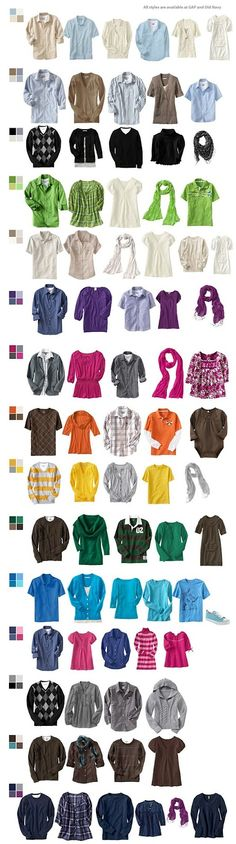 Family Portrait Clothing Ideas | blog: Fall Portrait Clothing Ideas  | What to Wear for Fall Family Portraits:  Use a color pallet, but don't go matchy-matchy. Only babies belong in light colors. Long sleeves are essential.