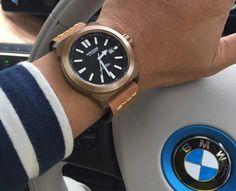 Blancier for Switszer Full Bronze Swiss Automatic Wristshot inside BMW3i