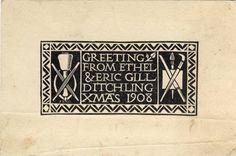 Eric Gill - Christmas card 1908 #npgmorris