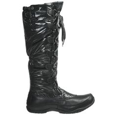 The North Face Anna Purna Tall Lace Winter Boots - Waterproof, Insulated (For Women) in Tnf Black/Tnf Black