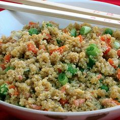 Quinoa and Vegetable Stir Fry.
