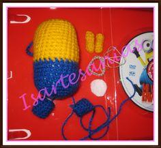 Minions echo por mi, Lana, crochet, paño lency o fieltro