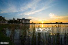 Stock Photo : Sunset over Tuanku Mizan Zainal Abidin Mosque