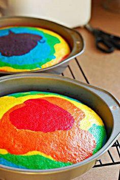 RAINBOW CAKE! so freaking cool