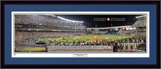 New York Yankees Last Night at Yankee Stadium Framed and Matted Stadium Panorama