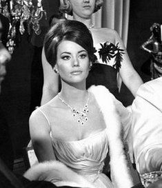 "Claudine Auger - Domino in ""Thunderball."" I love all the Bond girls from the Sean Connery era."