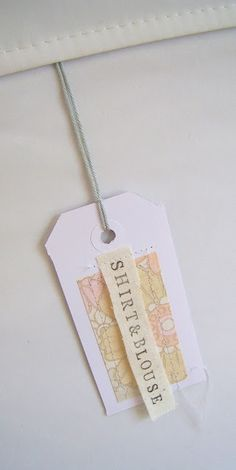 silly old suitcase: DIY-tutorial; cool storage name tags...