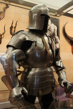 Field armour made by Giovanni, Ambrogio, Bellino and Dionisio Corio, Giovanni da Garavelle and Missaglia workshop Milan in 1440. It is on display in the Kelvingrove Museum in Glasgow, Scotland