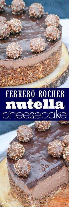 This silky sweet Nutella cheesecake is sandwiched in between a crispy, crunchy hazelnut crust and a rich layer of Ferrero Rocher-style ganache. This Ferrero Rocher Nutella Cheesecake is a confectionery miracle. It's dessert on top of dessert, with a topping of dessert.