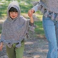 Free Knitting Pattern - Women's Ponchos: Just Me and Mom Ponchos