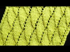 Cómo Tejer Punto Hojas-Leaves Knit Stitch-2 Agujas (289) - YouTube
