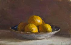 Daily paintings | Bowl of lemons | Postcard from Provence