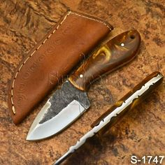 Supreme's Hand Made High Carbon Steel Resin Skinner Knife-Sheath Knife Sheath, High Carbon Steel, Knives, Resin, Handmade, Hand Made, Knifes, Knife Making, Arm Work